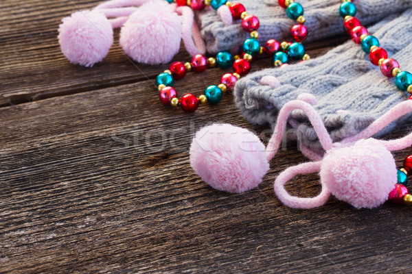 christmas decorations with  wool socks Stock photo © neirfy
