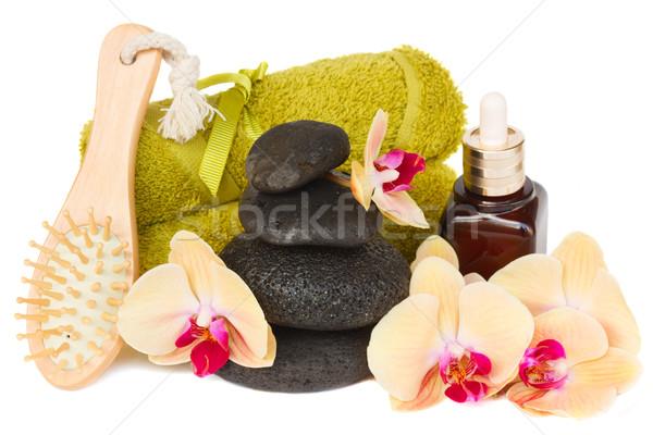 Orkide terapi ayarlamak yalıtılmış beyaz sağlık Stok fotoğraf © neirfy