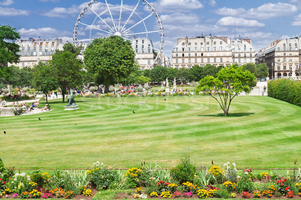 саду Париж лет день Франция небе Сток-фото © neirfy
