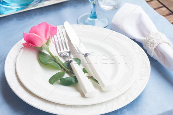 Arts de la table plaques maison verre Photo stock © neirfy