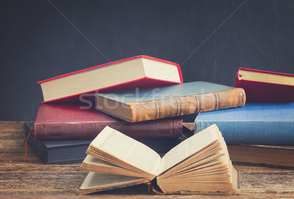 Bookshelf with books Stock photo © neirfy