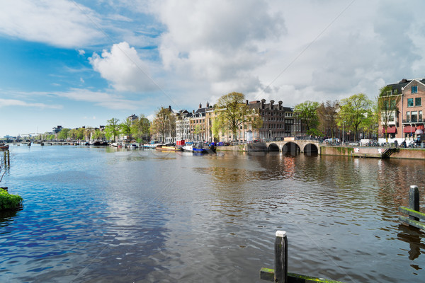 Amstel canal, Amsterdam Stock photo © neirfy