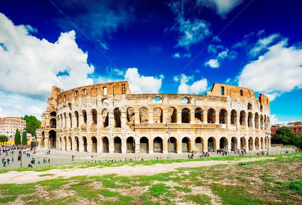Colosseo tramonto Roma Italia rovine antichi Foto d'archivio © neirfy