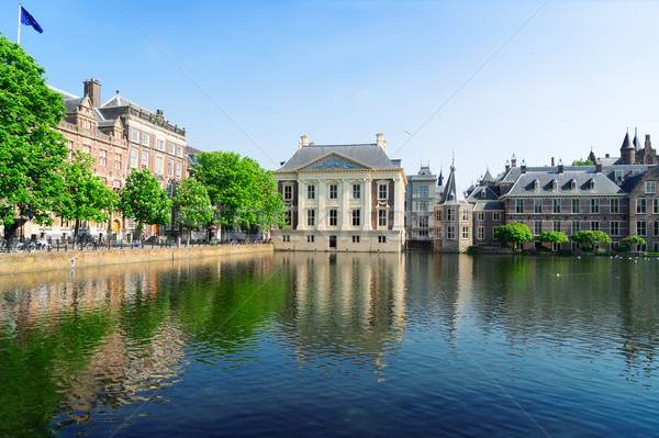 Stad centrum Nederland nederlands vijver Stockfoto © neirfy