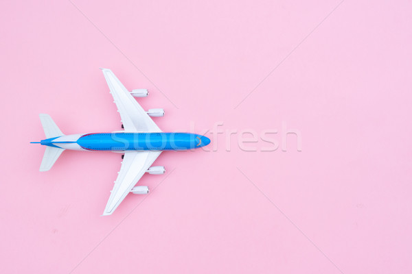 Plane on pink Stock photo © neirfy