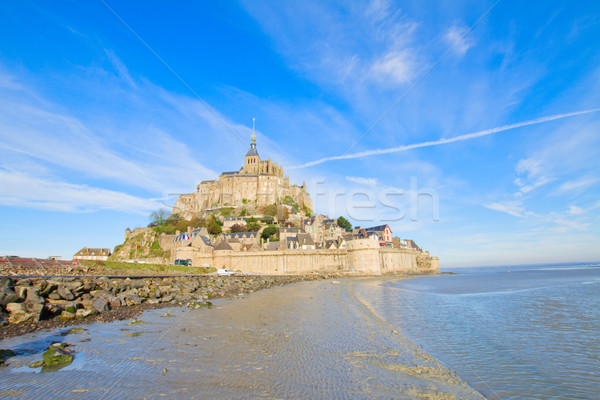 Mont Saint Michel over sea tide , France Stock photo © neirfy