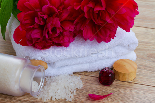 Peonies spa concept Stock photo © neirfy
