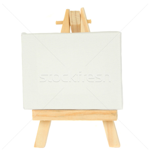 мольберт пусто холст изолированный белый краской Сток-фото © neirfy