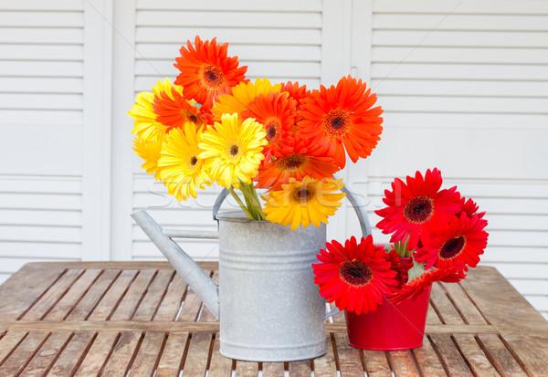 gerbera flowers bouquets Stock photo © neirfy