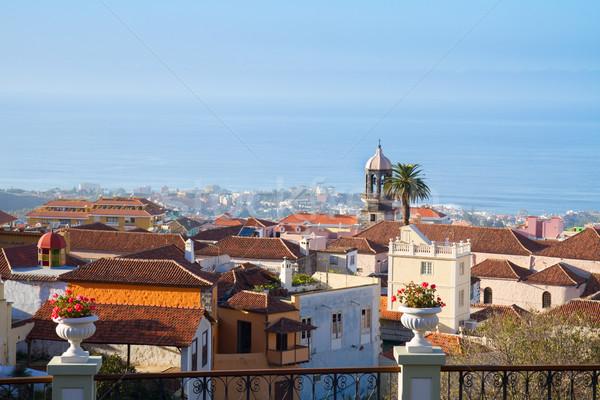 Linha do horizonte tenerife ilha rua mar oceano Foto stock © neirfy