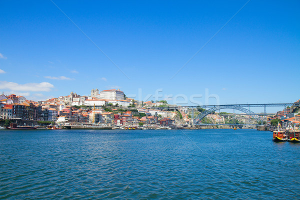 hill with old town of Porto, Portugal Stock photo © neirfy