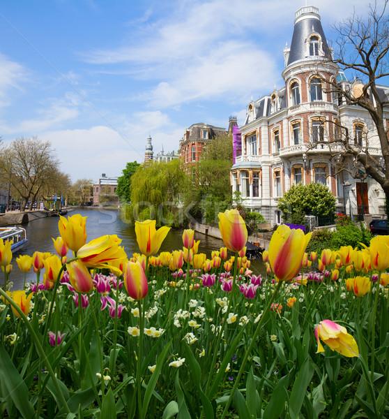 Bir Amsterdam bahar gün Hollanda Stok fotoğraf © neirfy