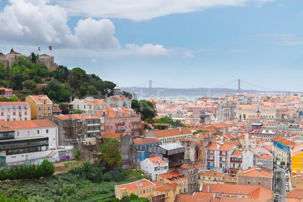 Saint George's Castle , Lisbon, Portugal Stock photo © neirfy