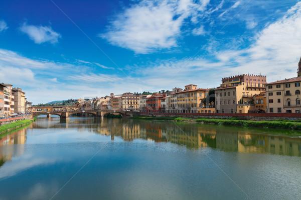 Florence Itália famoso ponte rio verão Foto stock © neirfy