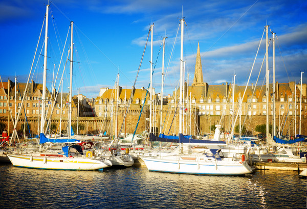 harbour of  Saint Malo, France Stock photo © neirfy
