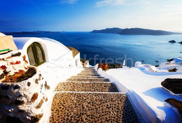 美しい 細部 サントリーニ 島 急 石 ストックフォト © neirfy