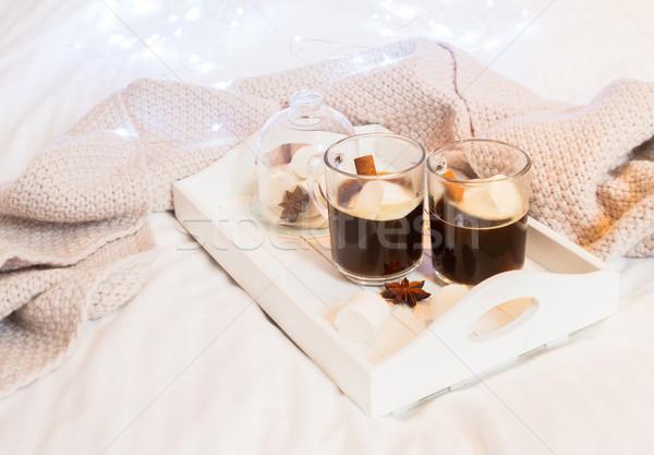 Breakfast in bed Stock photo © neirfy
