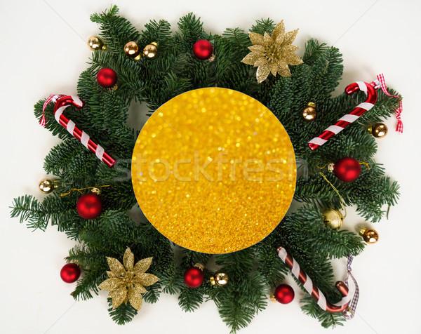 Natale evergreen albero creativo layout inverno Foto d'archivio © neirfy