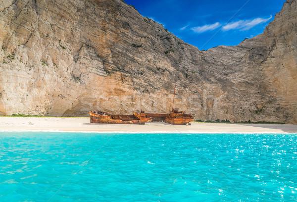 美しい 島 ビーチ 風景 ギリシャ 空 ストックフォト © neirfy