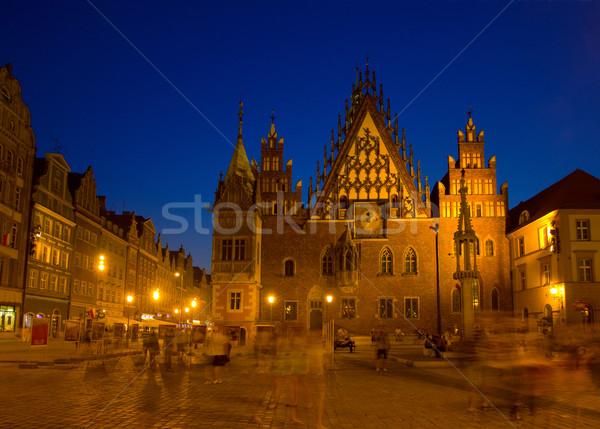 town hall of Wroclaw, Poland Stock photo © neirfy