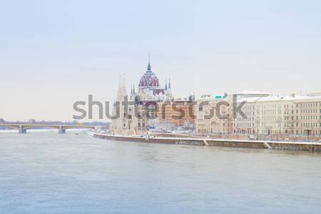 Danube promenade parlement Budapest Hongrie ciel Photo stock © neirfy