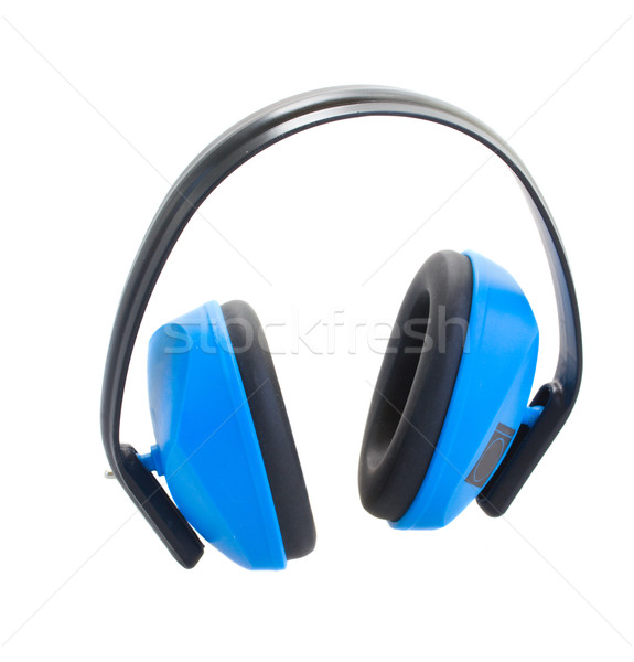 Hearing protection blue  ear muffs Stock photo © neirfy