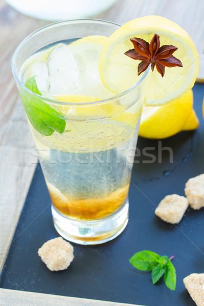 glass of lemonad Stock photo © neirfy