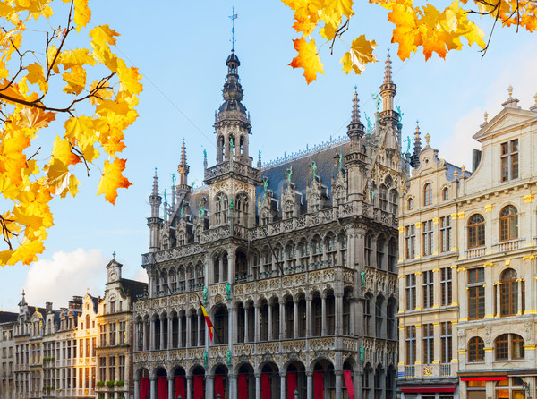 Roi Bruxelas fachada cair dia Bélgica Foto stock © neirfy