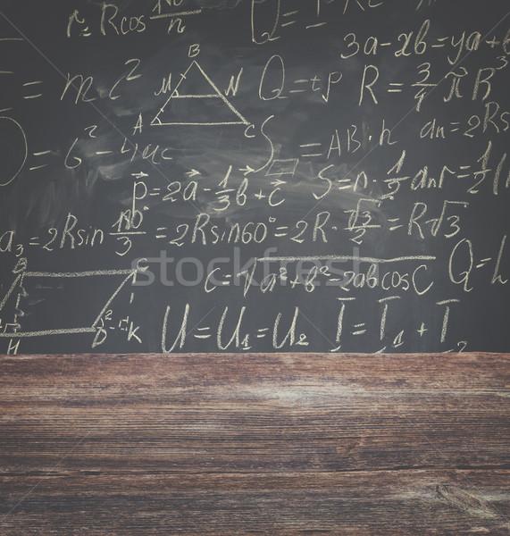 Matemáticas fórmulas escuela escritorio escrito Foto stock © neirfy