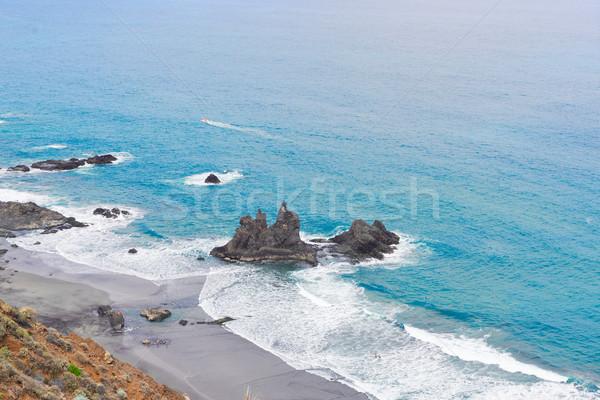 Strand tenerife eiland Spanje luchtfoto water Stockfoto © neirfy