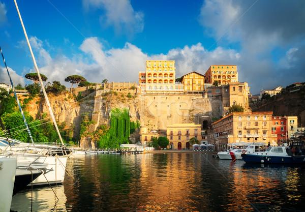 южный Италия лодках город ретро пляж Сток-фото © neirfy