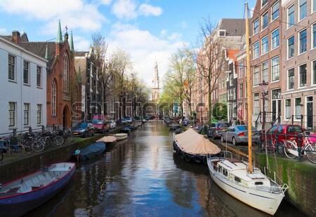 住宅 オランダ オランダ語 歴史的 橋 運河 ストックフォト © neirfy