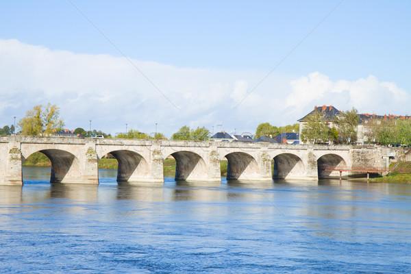 roman bridge in Saumur, France Stock photo © neirfy