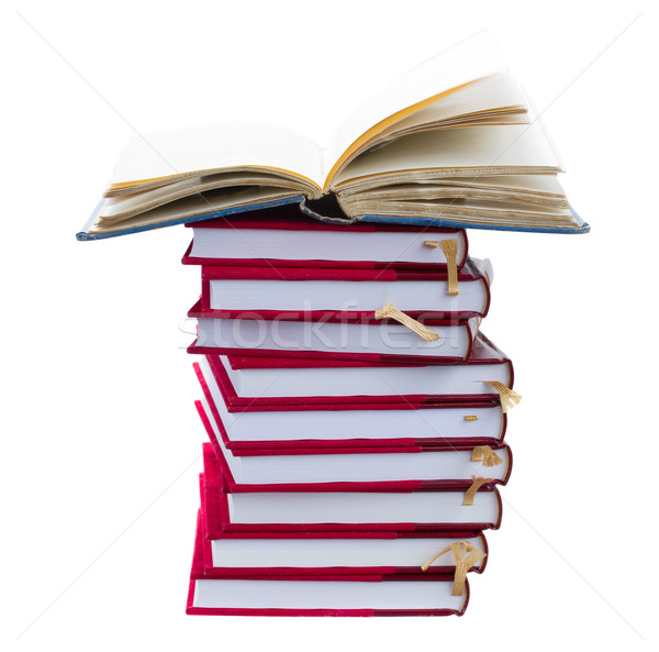Stock photo: stuck  of books