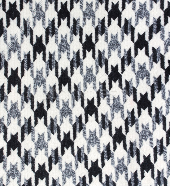 Tweed fabric houndstooth texture Stock photo © neirfy