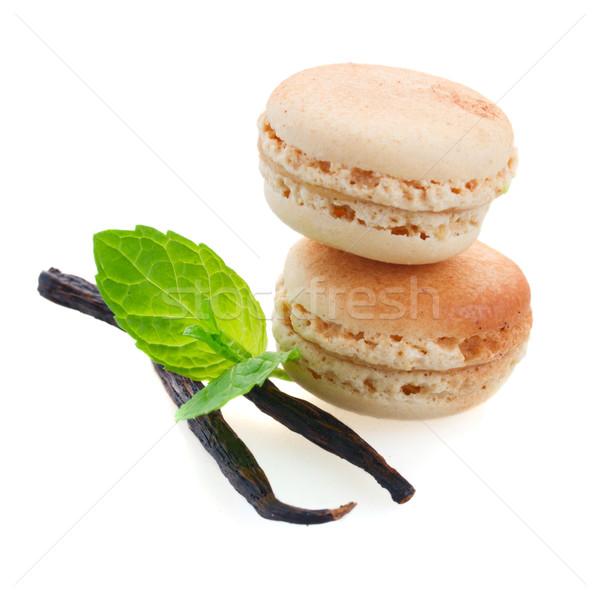 vanilla macaroons Stock photo © neirfy