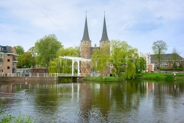 old city gate to  Delft, Netherlands Stock photo © neirfy
