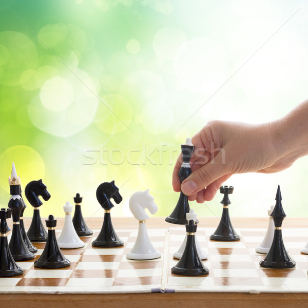 making move in chess game Stock photo © neirfy