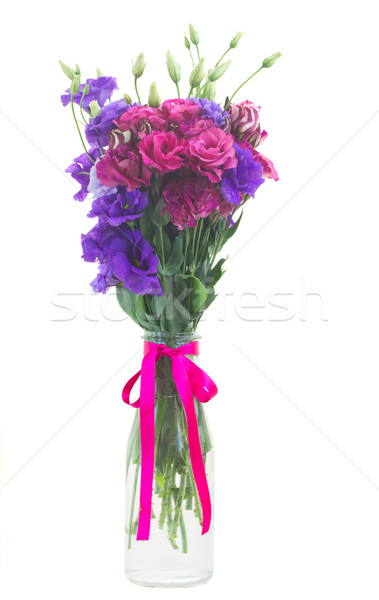 bunch  of  violet and mauve eustoma flowers Stock photo © neirfy