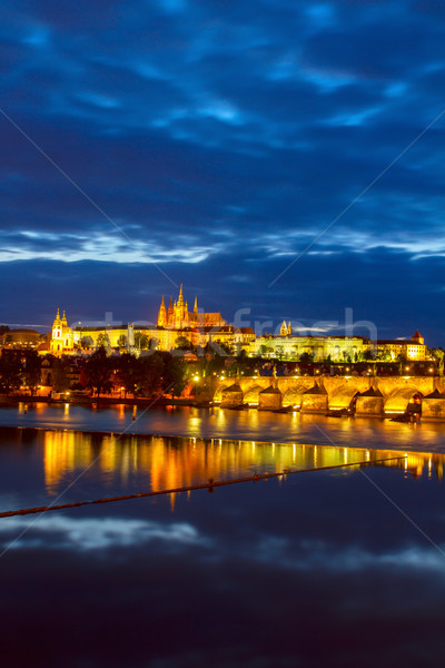 Vitus cathedral and Charles bridge Stock photo © neirfy