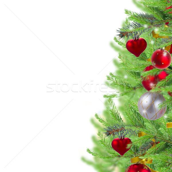 Рождества границе украшенный фон кадр Сток-фото © neirfy