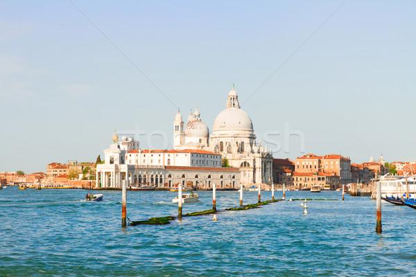 Basilique Venise Italie canal eau Photo stock © neirfy