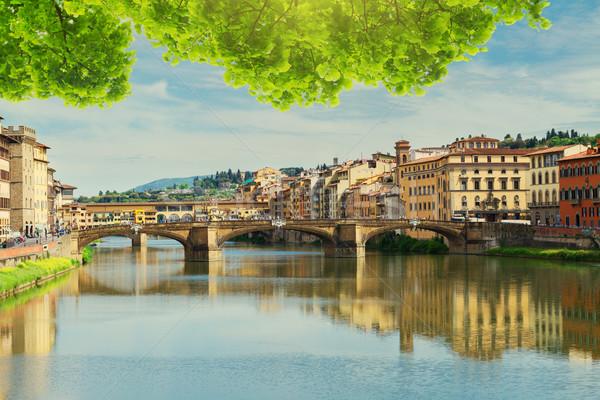 Ponte Santa Trinita bridge, Florence Stock photo © neirfy