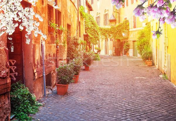 Utca Róma Olaszország kilátás óváros olasz Stock fotó © neirfy