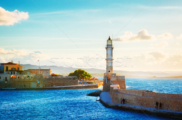 Stock photo: habour of Chania, Crete, Greece