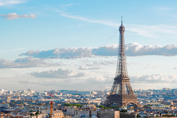 Эйфелева тур Париж Cityscape известный Эйфелева башня Сток-фото © neirfy