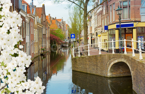 old town, Delft, Netherlands Stock photo © neirfy
