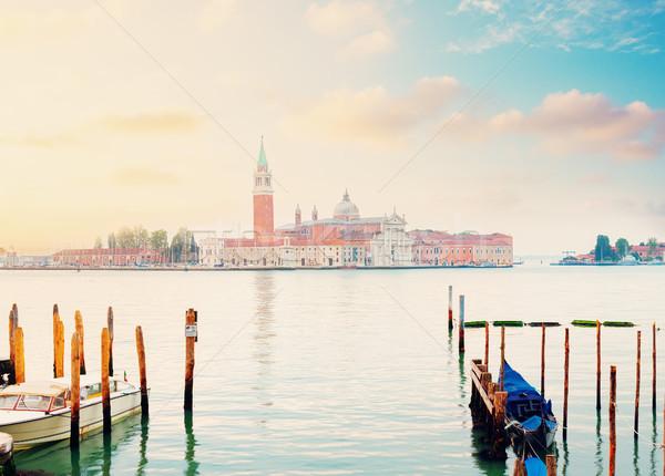 острове Венеция Италия мнение Восход свет Сток-фото © neirfy