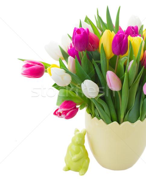 Bouquet of tulips flowers Stock photo © neirfy