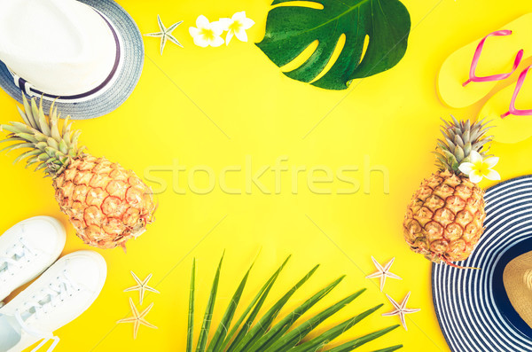 Summer flat lay scenery Stock photo © neirfy